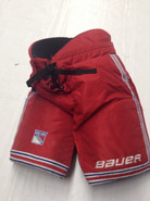 Bauer Custom Pro Stock Hockey Pants LARGE New York Rangers NHL Used (2)