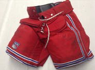 Vaughn Custom Pro Stock Hockey Goal Pants Red XL X-Large New York Rangers Used LUNDQVIST