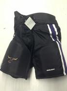 "Bauer Custom Pro Stock Hockey Pants Black Large + 1""  MAVERICKS MSU NCAA New"