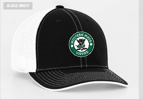 Western Mass Vipers Hockey Pacific Headwear 404M Trucker Mesh Fitted ... 93d893df473