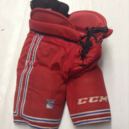 CCM HP45 Custom Pro Stock Hockey Pants Large New York Rangers NHL Used (5)