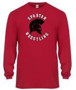 Somers Wrestling Badger C2 Long Sleeve Moisture Wicking Tee Shirt Red