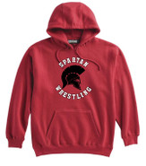 Somers Wrestling Pennant Super 10 Cotton Hoodie Red