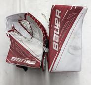 Bauer Supreme 1S Goalie Glove & Blocker Regular Senior Used Mint Condition White/Red