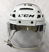 CCM VECTOR V08 PRO STOCK HOCKEY HELMET WHITE SMALL THUNDERBIRDS #15