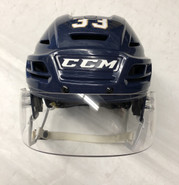 CCM RESISTANCE PRO STOCK HOCKEY HELMET NAVY LARGE THUNDERBIRDS #33