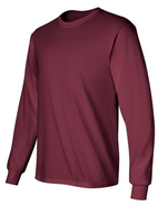 Easthampton Hockey Gildan Cotton Long Sleeve Tee Shirt Maroon