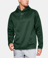 Green Wave Hockey Under Armour Double Threat Polyester Hoodie Adult Embroidered LOGO