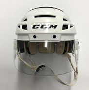 CCM VECTOR V08 PRO STOCK HOCKEY HELMET WHITE SMALL AHL