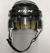 CCM VECTOR V08 PRO STOCK HOCKEY HELMET BLACK SMALL BOSTON BRUINS NHL #50