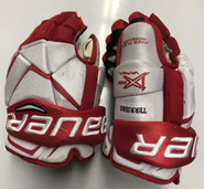"Bauer Vapor 1X Pro Stock Custom Hockey Gloves 13"" BU Terriers  #8"