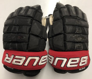 "Bauer Nexus 1N Pro Stock Custom Hockey Gloves 13"" NE Huskies NCAA USED"