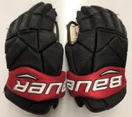 "Bauer Vapor 1X Pro Stock Custom Hockey Gloves 14"" NE Huskies #23"