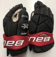 "Bauer Vapor 1X Pro Stock Custom Hockey Gloves 14"" NE Huskies #17"