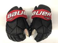 "Bauer Vapor 1X Pro Stock Custom Hockey Gloves 14"" NE Huskies #19 used"