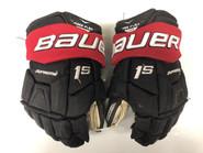 "Bauer Supreme 1S Pro Stock Custom Hockey Gloves 13"" NE Huskies"