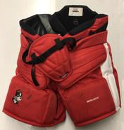 Bauer Custom Pro Hockey Goalie Pants Boston University BU Terriers Pro Stock SMALL NCAA