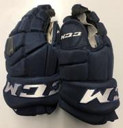 "CCM HGTKXP Pro Stock Custom Hockey Gloves 14"" NHL PANTHERS Navy used"