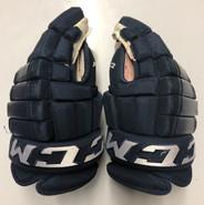 """CCM HG97 Pro Stock Custom Hockey Gloves 14"""" NHL FLORIDA PANTHERS USED"""
