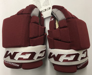 "CCM HG4RPP Pro Stock Custom Hockey Gloves 13"" New Massachusetts"