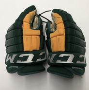 "CCM HG97 Pro Stock Custom Hockey Gloves 14"" Clarkson NCAA USED"