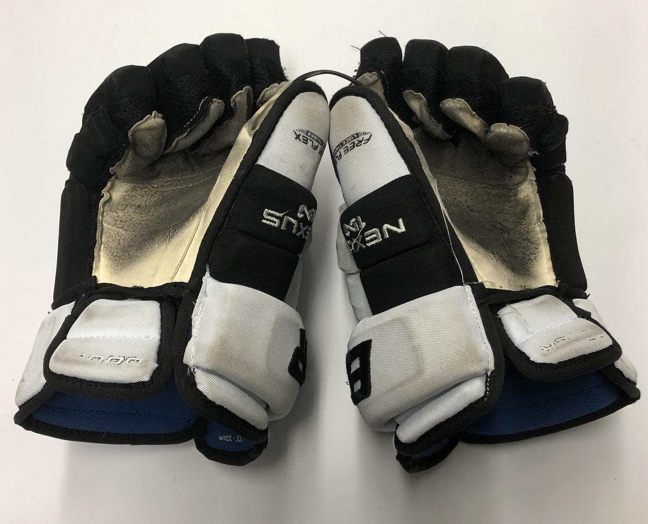"15ea53a1d7d Gloves 20853  Pro Stock Bauer Apx2 Hockey Gloves Winnipeg Jets Perrault 14"" Blue  Palms. Categories. Home · Pro Stock"