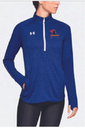 Western Mass Heat Under Armour Qualifier Hybrid 1/4 Zip Womens Royal Blue