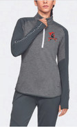 Western Mass Heat Under Armour Qualifier Hybrid 1/4 Zip Womens Grey