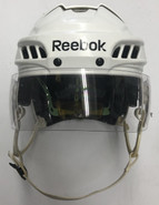 REEBOK 11K PRO STOCK HOCKEY HELMET WHITE MEDIUM USED