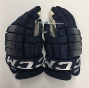 "CCM HG97 Pro Stock Custom Hockey Gloves 14"" AHL SPRINGFIELD THUNDERBIRDS USED"