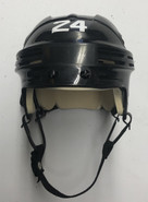 BAUER 4500 AHL ALBANY PRO STOCK HOCKEY HELMET BLACK SMALL #24