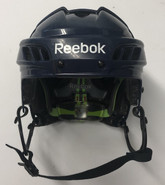 REEBOK 11K PRO STOCK HOCKEY HELMET NAVY BLUE MEDIUM