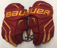 "Bauer APX2 Pro Stock Custom 14"" Gloves Ferris Bulldogs #27"