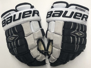 "Bauer Nexus 1000 Pro Stock Custom Hockey Gloves 12"" Providence Friars used NCAA #7"