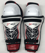 """Bauer X80 Sr Shin Guards Pads 13"""" Used"""