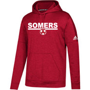 Somers Youth Soccer Adidas Pull Over Hooded Sweatshirt Red