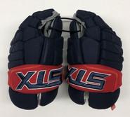 "STX Stallion HPR Pro Stock Custom Hockey Gloves 14"" Columbus Blue Jackets (2)"