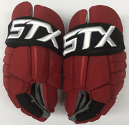 "STX Stallion HPR IH Pro Stock Custom Hockey Gloves 14"" NJ Devils 2"