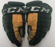 """CCM HG97 Pro Stock Custom Hockey Gloves 15"""" NCAA Used"""