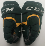 "CCM HG12 Pro Stock Custom Hockey Gloves 15"" Used NCAA"