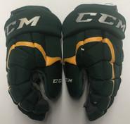 """CCM HG12 Pro Stock Custom Hockey Gloves 14"""" Used NCAA"""