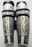 "Bauer Supreme Total One Pro Sr Shin Guards 17"" Pro Stock Used"