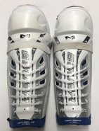 "Bauer Nexus Sr Shin Guards 15"" Pro Stock Used 2"