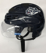 BAUER REAKT PRO STOCK HOCKEY HELMET NAVY BLUE MEDIUM WOLFPACK #23