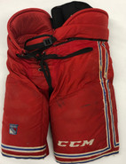 CCM HP 45 Custom Pro Stock Hockey Pants Red Large New York Rangers (5)