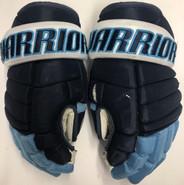"Warrior Alpha QX Pro Custom Pro Stock Hockey Gloves 14"" U of Maine #17 Used"