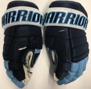 "Warrior Alpha QX Pro Custom Pro Stock Hockey Gloves 13"" U of Maine #3 Used"