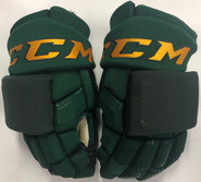 "CCM HGQLXP Pro Stock Custom Hockey Gloves 14"" Vermont #4"