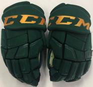 "CCM HGQL Pro Stock Custom Hockey Gloves 14"" Vermont #22"