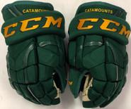 "CCM HGQLXP Pro Stock Custom Hockey Gloves 13"" Vermont #14"